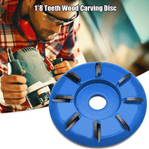 Letway Frässcheibe Für Holz Frässcheibe Winkelschleifer 8 Zähne Holz Schnitzscheibe, Fräswerkzeuge, 90MM Werkzeug Polierrad Für 16MM Aperture Angle Grinder Latest