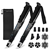 Oxford Street Adjustable Trekking Poles, 2pc Pack Hiking Walking Sticks with Antishock and Quick Lock System, Telescopic, Collapsible, Ultralight for Hiking, Walking, Camping