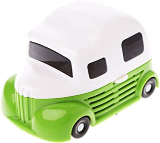 Yumian Durable Cartoon Car Mini Desktop Vacuum Portable Dust Cleaner for Home Office (Green)