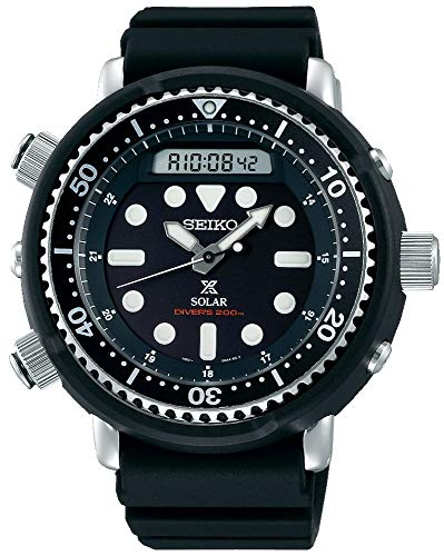 """Seiko Prospex""""Arnie"""" Re-Issue Sports Solar Diver's 200M Silicone Band Watch SNJ025P1"""