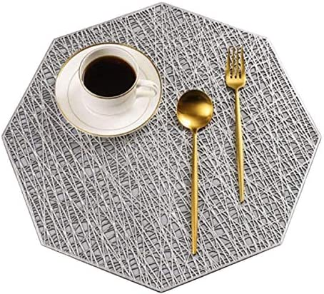 BRKURLEG 5 List price Pack Pressed Vinyl 40% OFF Cheap Sale Hollow Charger Placemats Metallic