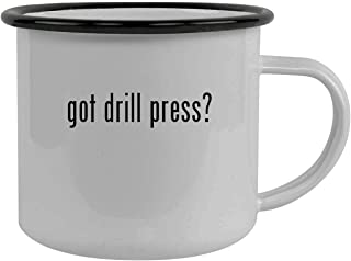 got drill press? - Stainless Steel 12oz Camping Mug, Black