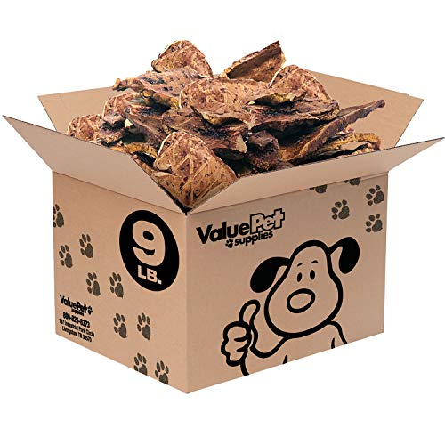 ValueBull USA Sliced Lamb Lung Dog Chews, Bulk, 9 Pounds