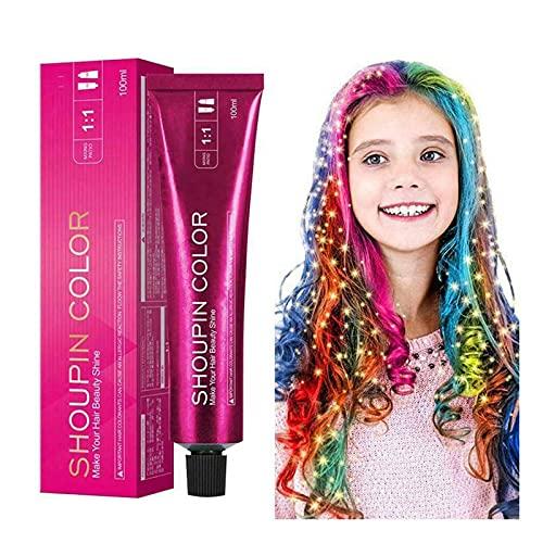 Nuevo mejor tinte para el cabello de sirena, suave y seguro, champú para teñir el cabello, de larga duración sin usar lejía que no se descolora fácilmente, tinte permanente para hombres y mujeres
