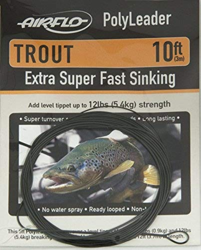 Airflo Trout Polyleader 10', Extra Super Fast Sink