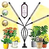 Pflanzenlampe Led, Garpsen 80 LEDs Grow Lampe, 4 Heads Vollspektrum Led Pflanzenlicht für Zimmerpflanzen mit Auto ON & Off Timer 4/8/12H, 3 Arten von Modus, 10 Helligkeitsstufen