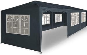 Maxx Tente de réception 3 x 9 m, 27 m² - Gris - à Utiliser comme pavillon, pergola, Tente de Jardin, chapiteau ou tonnelle