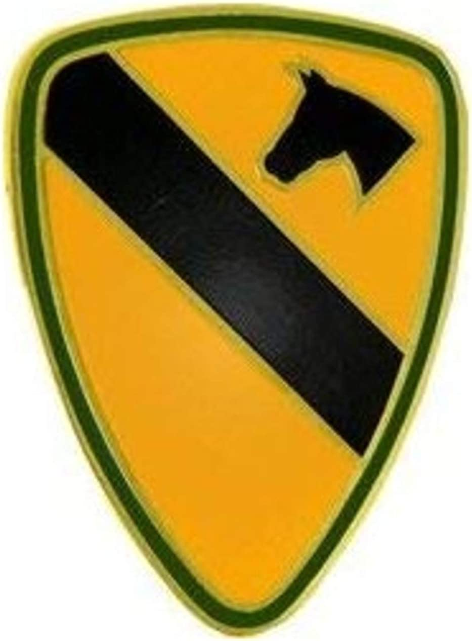 1st Cavalry Division Lapel Pin or Genuine Free Shipping Yellow Hat 5 Small Max 44% OFF 8