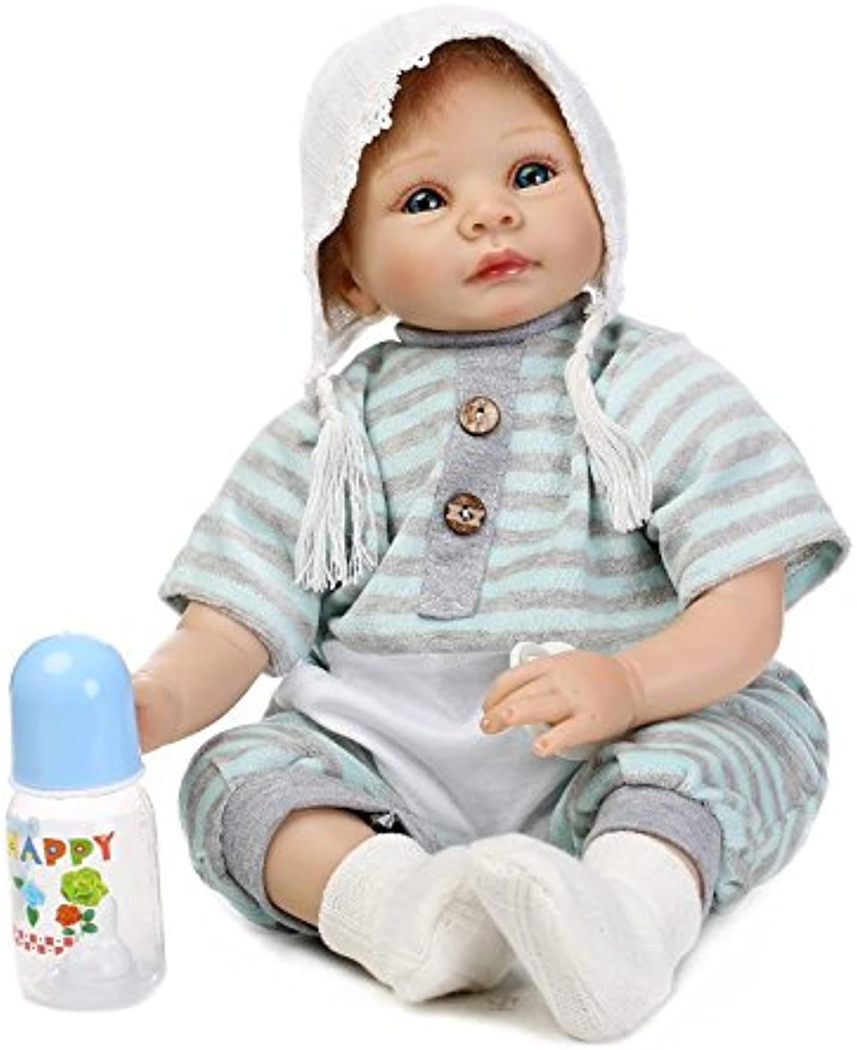NPK Collection Reborn Baby Doll Soft Silicone 22inch 55cm Magnetic Mouth Realistic Boy Girl Collectible Toy Kids Grwoth Partner