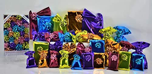 Set med hyllpaketet. Liten. 30 små kuvert PPL blandade färger självhäftande stängning + 30 koordinerade skålar liten metall ny färg