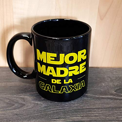 Dr.Troll Taza mug Desayuno Modelo Mejor Madre de la Galaxia, 33 Cl. de cerámica Negra