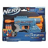 Nerf Elite 2.0 Volt SD-1 Blaster – 6 Official Nerf Darts, Light Beam Targeting, 2-Dart Storage, 2 Ta...