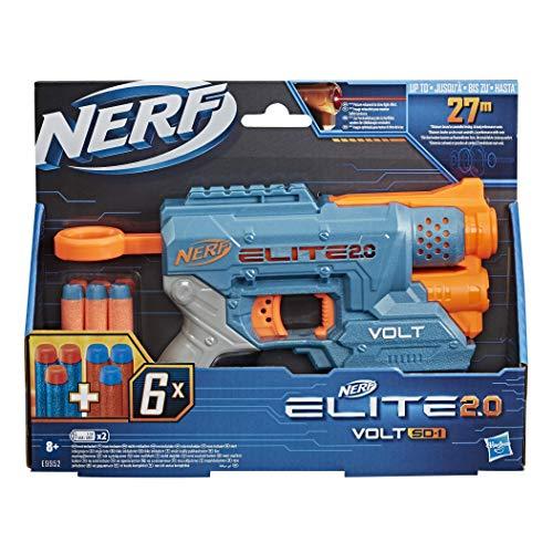 Hasbro Nerf Elite 2.0 - Volt SD-1 (blaster con raggio puntatore Luminoso e 6 dardi inclusi)
