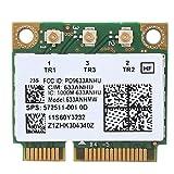 Scheda di Rete Intel 6300AGN, Scheda di Rete Wi-Fi ad Alta velocità per Lenovo Thinkpad T420i T420S, 450 Mbps, Adattatore per Scheda di interfaccia Mini PCI-E