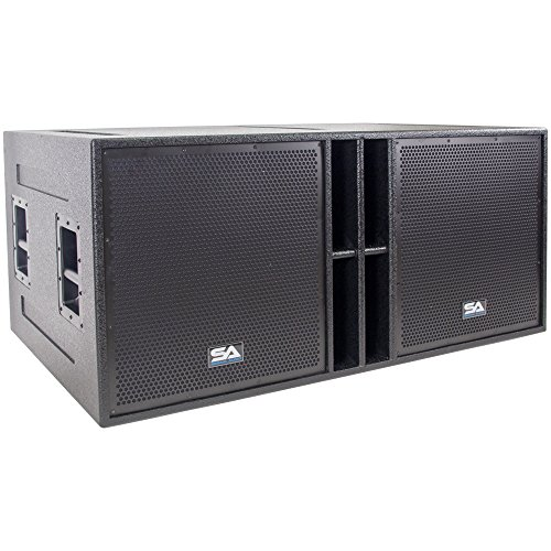 Seismic Audio - The_Quad_18-4 x 18 Inch Subwoofer Cabinet - 4800 Watt Sub Woofer for PA/DJ/Band Live Sound
