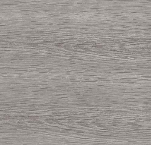 Klebefolie Holzoptik Kiefer Grau, Dekofolie, Möbelfolie, Tapeten, selbstklebende Folie, PVC, ohne Phthalate, Natur-Holzoptik, 45cm x 3m, 95µm (Stärke: 0,095 mm), Venilia 53159