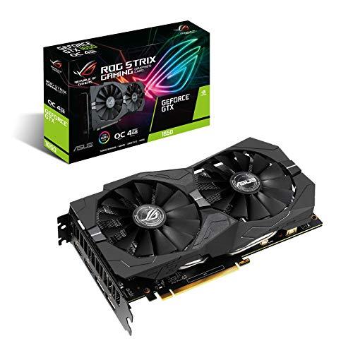 ASUS ROG Strix Nvidia GeForce GTX 1650 Super 4GB Edition Gaming Grafikkarte (GDDR6 Speicher, PCIe 3.0, 2x HDMI 2.0b, 2x DisplayPort 1.4, ROG-STRIX-GTX1650S-4G-GAMING)