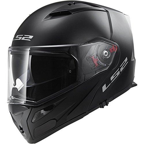 LS2 FF324 Solid Klapphelm, schwarz matt XS Schwarz