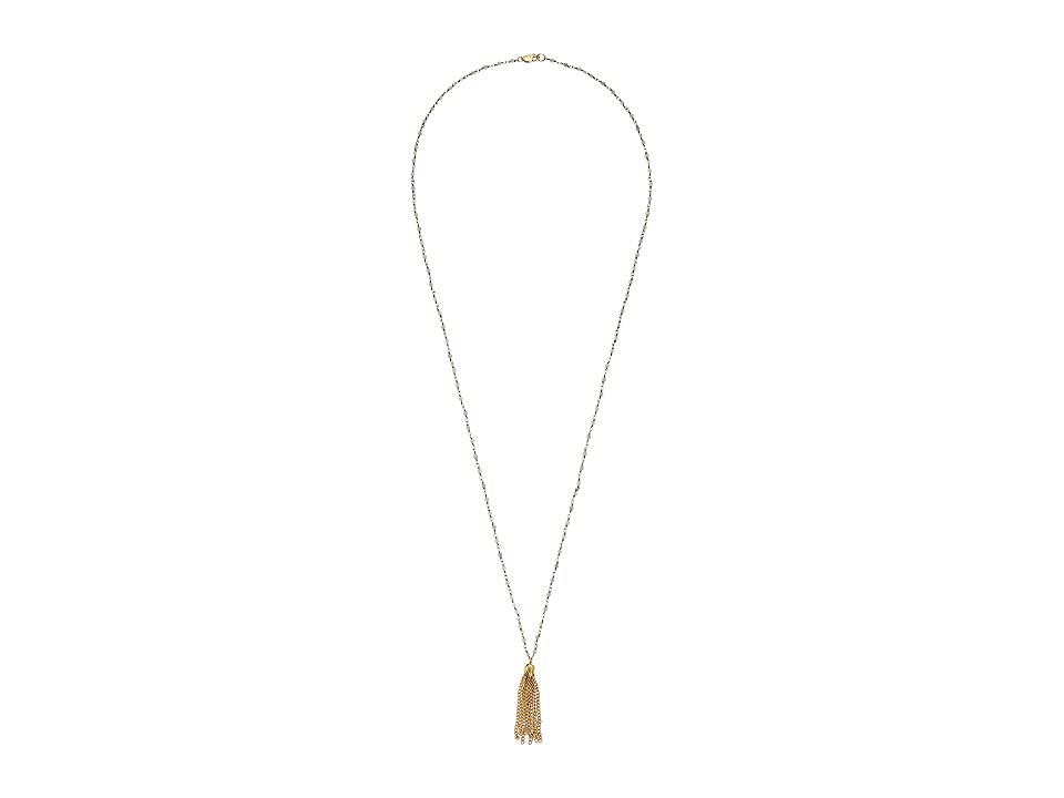 Dee Berkley - Dee Berkley Amazonite Tassel Gemstone Necklace