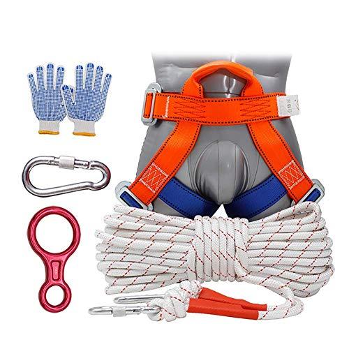 Sicherheitsgurt, Sicherheitsseil, Klettergurt mit Kletterkarabiner, Kletterausrüstung mit Haken Hochfestes tragbares Anti-Fall-Off