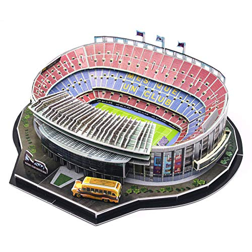 Barcelona Camp NOU Stadium 100Pcs 3D Jigsaw Puzzles for Adults and Kids Model Building Kits Collection Toys Christmas Birthday Day Gift