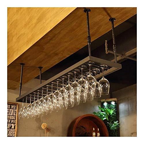 Estantería de vino Estante del vino del hierro forjado de techo for copas del estante del sostenedor del soporte de exhibición hogar de la barra de la cocina, bar, restaurante estante de vino pequeño