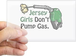 CafePress Jersey Girls Don't Pump Gas Rectangle Sticker Rectangle Bumper Sticker Car Decal