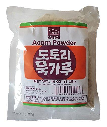 Haitai Agriculture Rice Flour/Potato Starch/Acorn Powder/Mung Bean Starch (Arorn Powder (도토리묵 가루) 1 lb, 2 Bag)