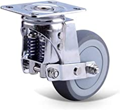 DQMSB Spring Casters Shock Absorber Wheel Double Spring Directional Wheel Automatic Retractable Wheel
