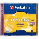 Verbatim 94520 Dvd Rewritable Media . Dvd+Rw . 4X . 4.70 Gb . 1 Pack Jewel Case . 2 Hour Maximum Recording Time 'Product Type: Storage Media/Optical Media'