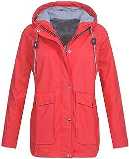 GRMO Women Zip Front Tunic Pockets Fleece Jacket Long Hooded Sweatshirts Tops