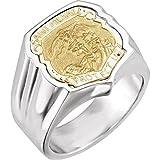JewelryWeb Anillo de plata de ley pulido de San Miguel – Talla M 1/2