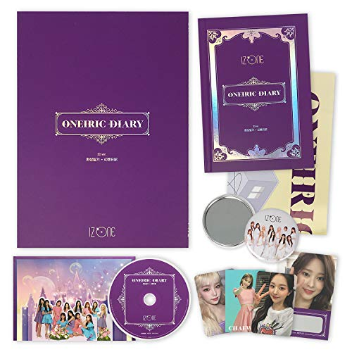 IZONE 3rd Mini Album - ONEIRIC DIARY [ 3D ver. ] CD + Photobook + Photocards + AR Card + Scratch Card + Iz*House Folding Poster(On pack) + OFFICIAL POSTER + FREE GIFT