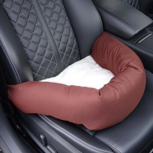 Hossi's Wholesale Autositz für Hunde, Hundeautositz inkl. Hundeautogurt und Sitzbefestigung, Hundesitz 45x45x18cm