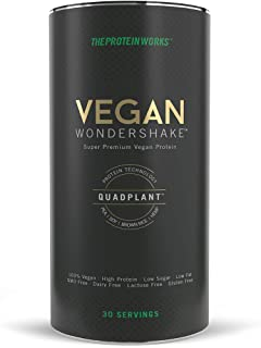 Vegan Wondershake Proteico | 100% Vegano, Combinación De Proteínas QuadPlant™, Batido En Polvo Libre De OGM | THE PROTEIN WORKS, Chocolate Doble, 750g