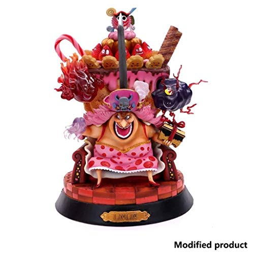 AFQHJ ワンピースシャーロット琳琳/ビッグMOM新世界4人の皇帝ビッグママケーキ島ゼウスプロメテウスPVC手のモデル人形の装飾品の誕生日プレゼント美しい箱入り23センチメートルの高いです