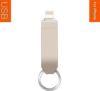 LETOOR - Memoria Flash USB 3.0 de aleación de Zinc (32 GB, USB 3.0, Compatible con iPhone, iPad, iPod, Mac, teléfonos iOS/Android y PC, Color Blanco Perla