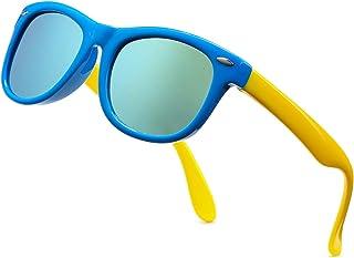Kids Polarized Sunglasses TPEE Rubber Flexible Frame Sun Glasses for Girls Boys Age 3-9, 100% UV Protection