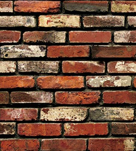 3D-achtergrond, decoratie voor houten gras, muurstickers van papier, Brick Stone Wallpaper, rustiek effect, woondecoratie, plakfolie 300 * 210
