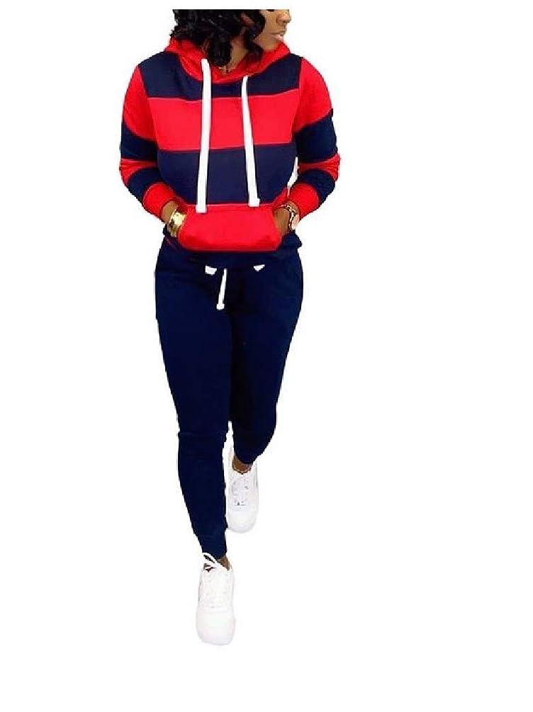 Keaac Womens Sweatshirt Casual Hoodies Color Block Long Sleeve Tops Pullover with Pockets