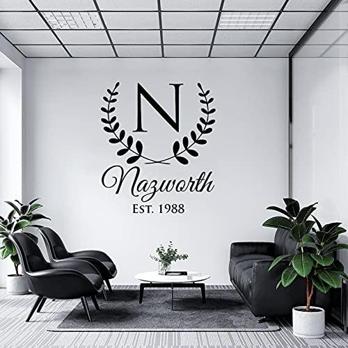 by Unbranded Pegatinas de pared personalizadas, letra N, monograma, regalo de boda,...