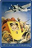 Lufthansa VS Post Carruaje Nostalgie nostálgico Cartel de chapa 20x 30cm Chapa 1676