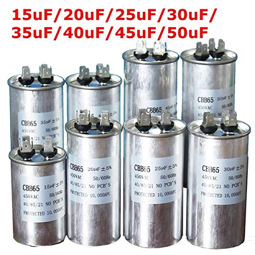 XBaofu, 450V AC Motorkondensator Klimaanlage Kompressor Startkondensator CBB65 15uF 20uF 25uF 30uF 35uF 40uF 45uF 50uF Klimaanlagein (Speed : 25uF)