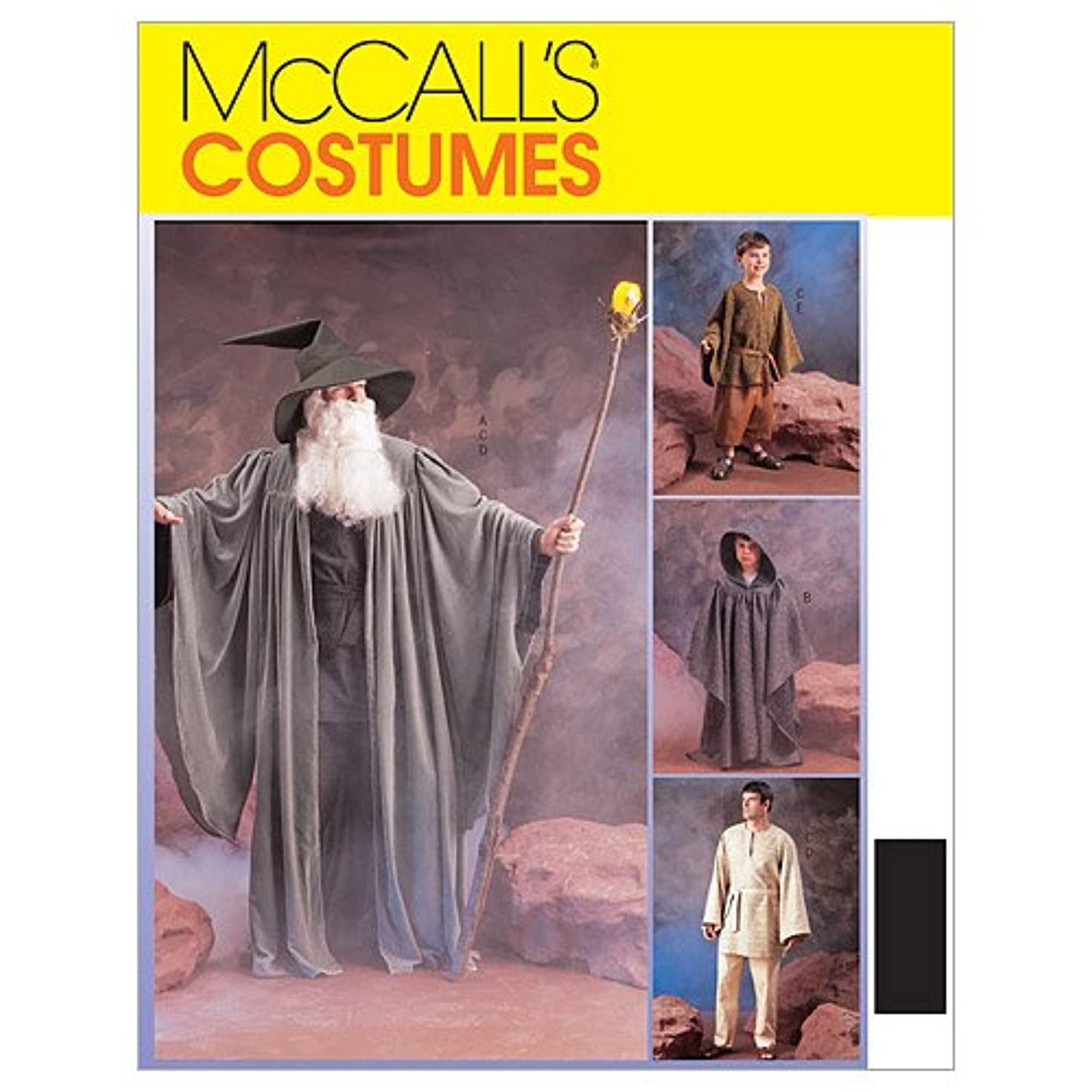 Misses Mens Teen Boys And Girls Witches And Wizards Costumes Costumes McCall's Costumes Sewing Pattern 3789 (Size Adult: Sml-Xlg)