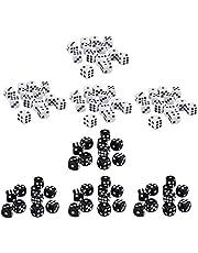 perfeclan Paquete de 400 Dados de Seis Caras D6 para D&D RPG MTG Accesorios Piezas Negro / Blanco