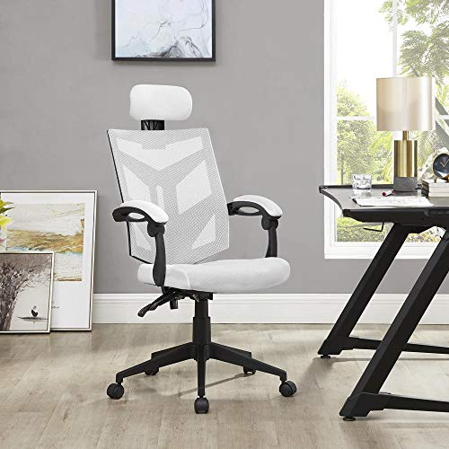 Naomi Home Juliet Adjustable Ergonomic Mesh Office Chair White