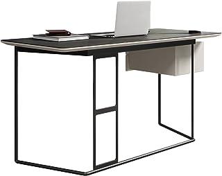 """Gaming Desk الحد الأدنى لائحة مكتب دراسة الحديثة كمبيوتر محطة العمل 23.2""""طاولة الكتابة الفاخرة الإضاءة المنزلية مع أدراج م..."""