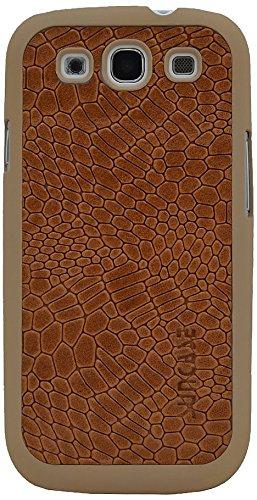 Suncase Funda de Cuero para el Samsung Galaxy S3 i9300 con Protector de Pantalla con Relieve-marrón