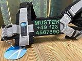 Wuffwelt Namensschild Telefonschild abnehmbar mit Ring für Steuermarke passend für anny-x Brustgeschirr