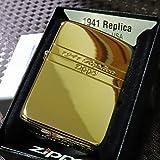 【限定ZIPPO】1941レプリカ サイドシェル ゴールド 限定ナンバー入り 金タンク 限定ジッポ 人気
